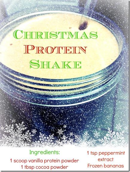 Christmas Protein Shake